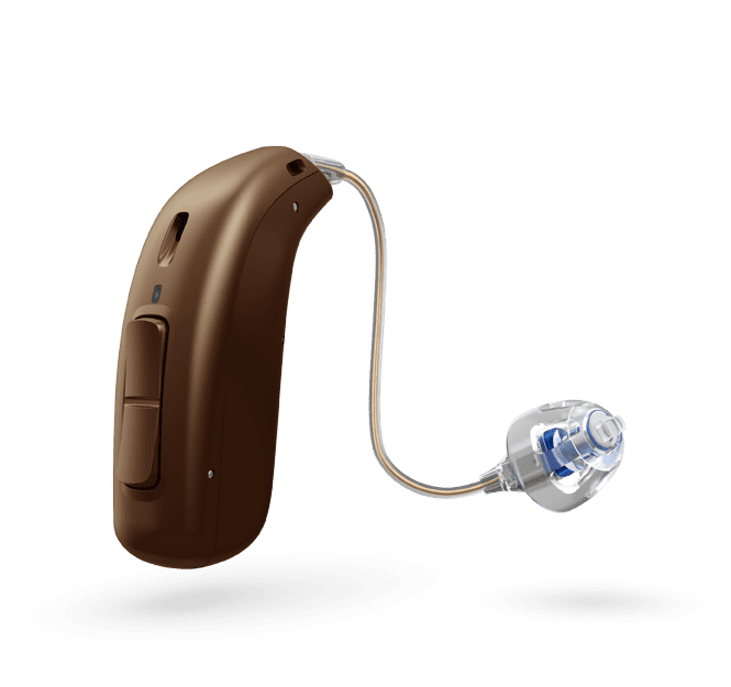 Oticon More 1 miniRITE R - oplaadbaar - Chestnut Brown 93