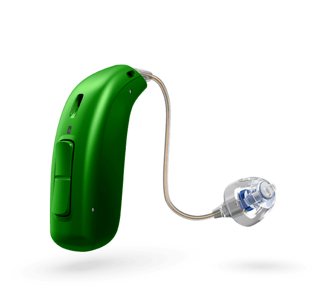 Oticon Opn Play 1 miniRITE R - oplaadbaar - Emerald Green 48